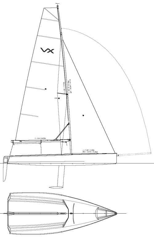 VX ONE-DESIGN drawing