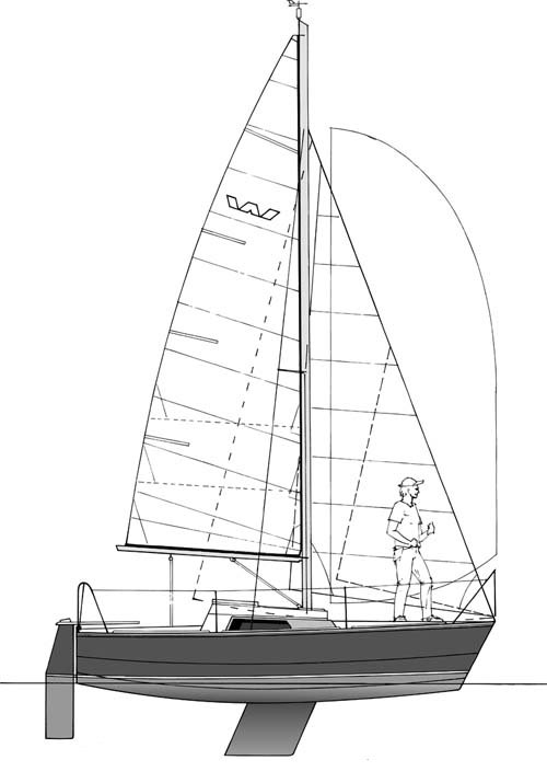 Waarschip 570 drawing on sailboatdata.com