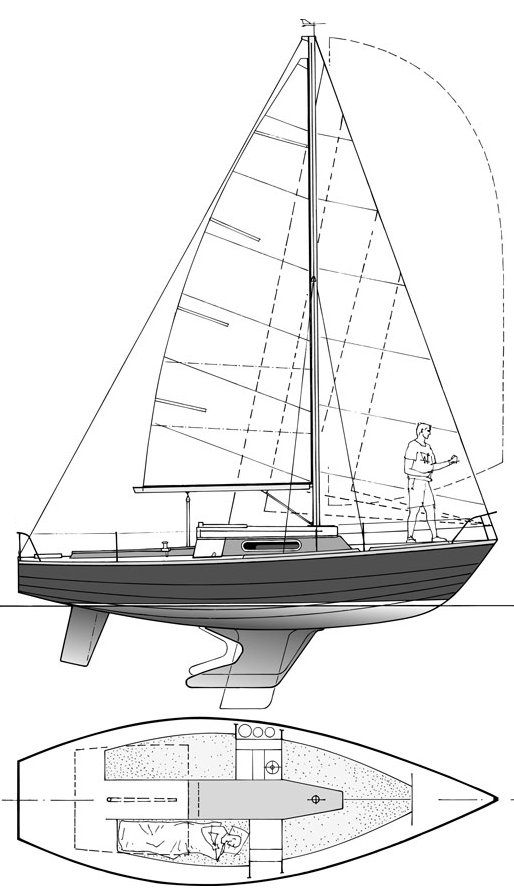 Waarschip 725 (1/4 TON) drawing on sailboatdata.com
