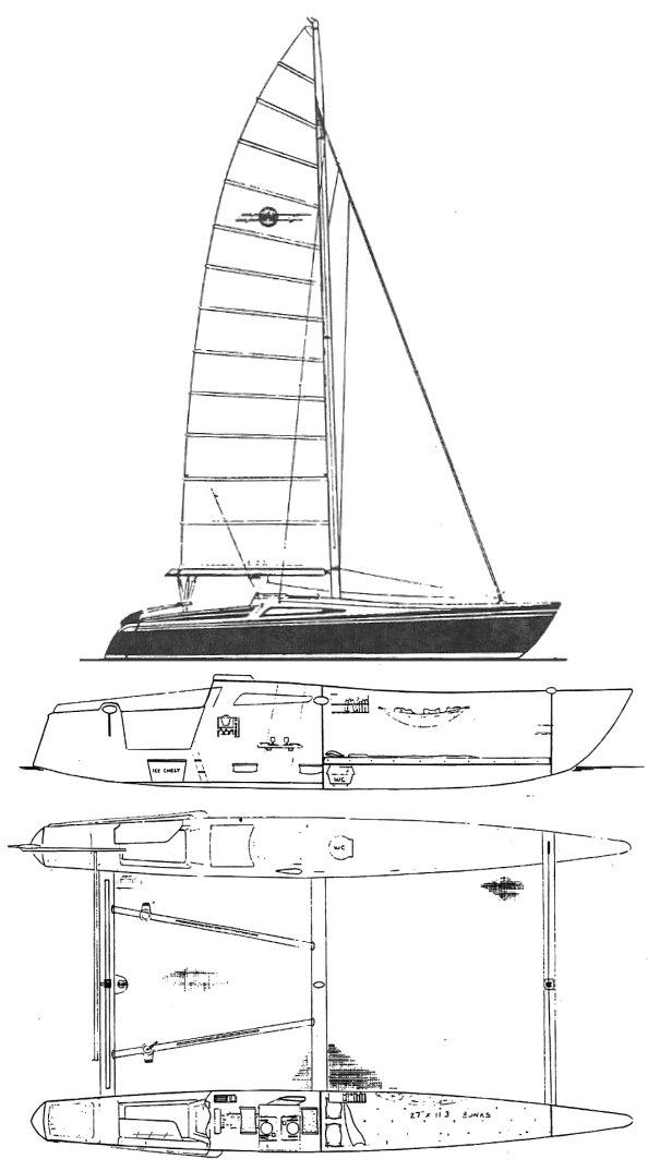 SailboatData.com - WARRIOR 29 Sailboat | 594 x 1074 jpeg 69kB
