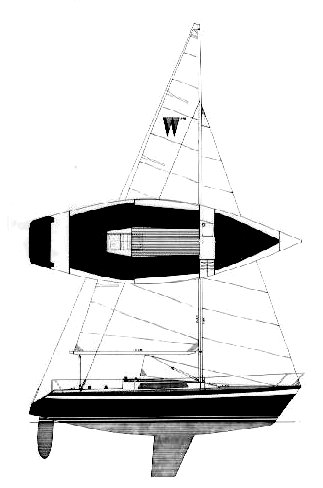 Wasa 270 drawing on sailboatdata.com