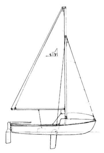 Watkins 17 drawing on sailboatdata.com