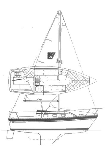 Watkins 25 drawing on sailboatdata.com