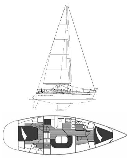 WAUQUIEZ PILOT SALOON 43 drawing