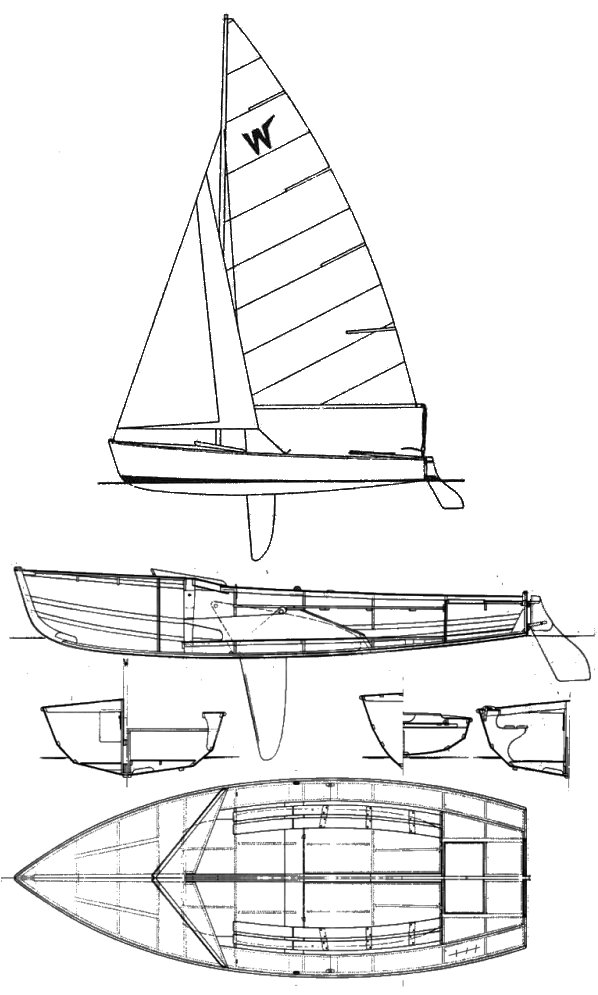 Wayfarer drawing on sailboatdata.com