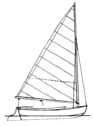 Weasel Dinghy drawing on sailboatdata.com