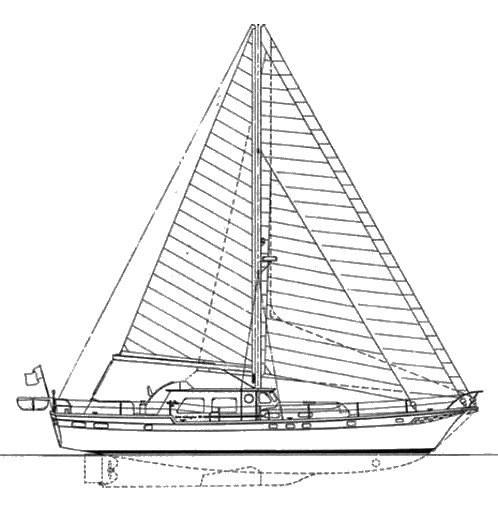 Wellingron 60 drawing on sailboatdata.com