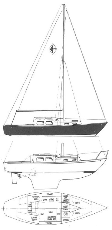 WESTERLY 28 drawing