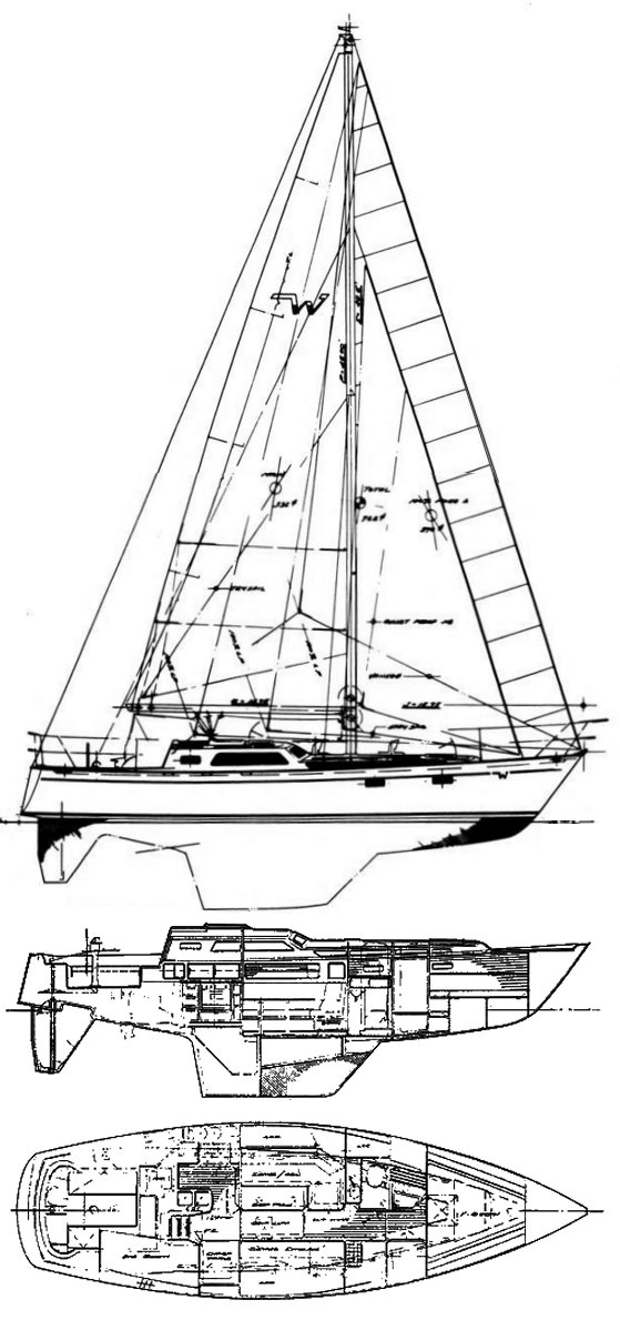 WESTSAIL 39 drawing