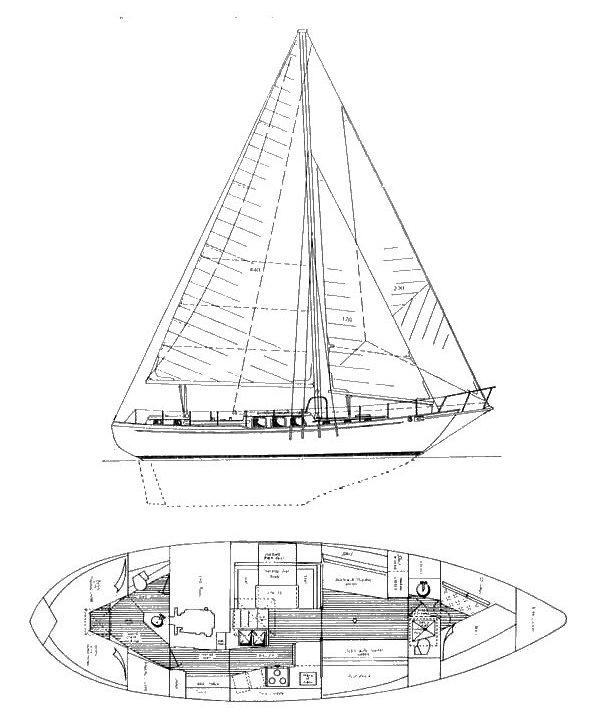 WESTSAIL 42 drawing