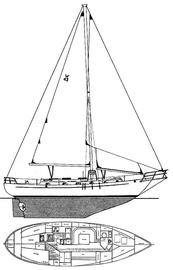 WESTSAIL 43 drawing