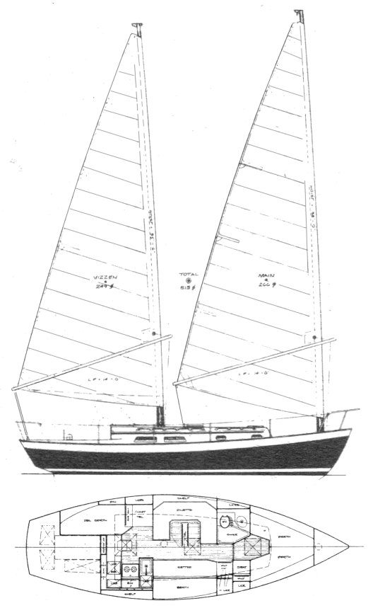 WHISTLER 32 CAT KETCH drawing