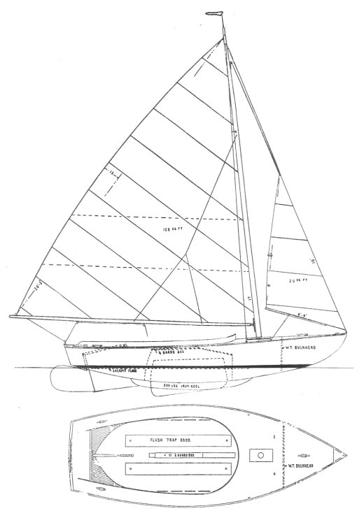 Wianno Junior drawing on sailboatdata.com