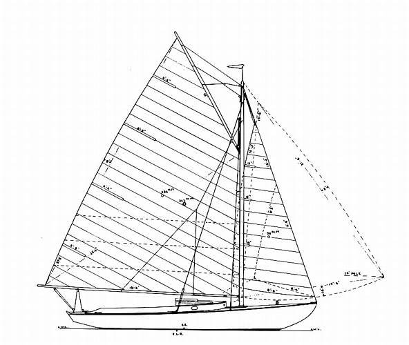 Wianno Senior drawing on sailboatdata.com
