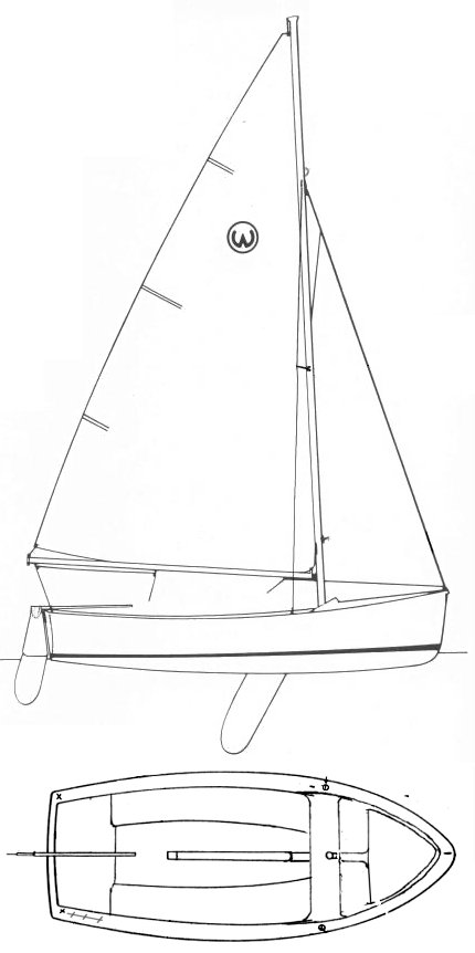 Widgeon (O'Day) drawing on sailboatdata.com
