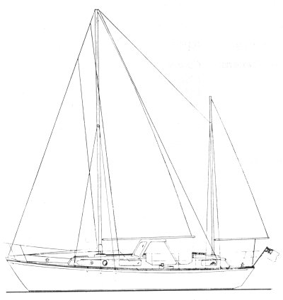 Wight 31 (Macwester) drawing on sailboatdata.com