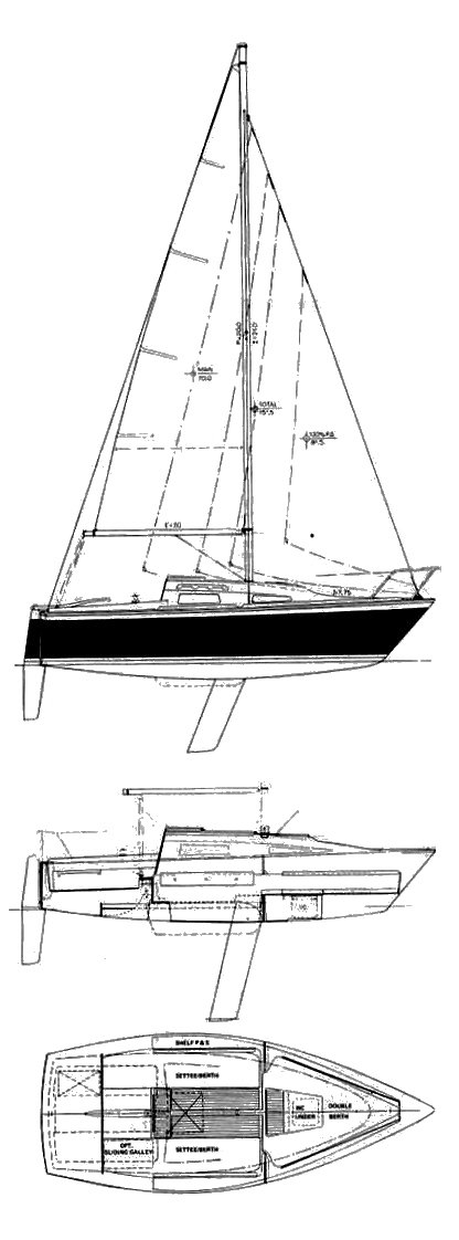 Windrose 18 drawing on sailboatdata.com
