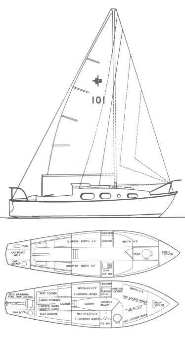WINDRUSH 25 (WESTERLY) drawing