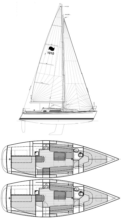 Winner 10.10 drawing on sailboatdata.com