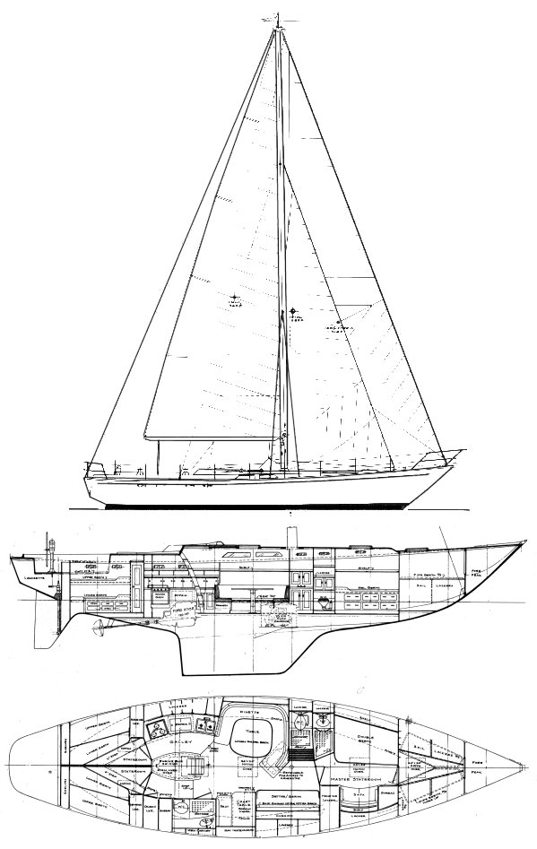 Wittholz 53 drawing on sailboatdata.com