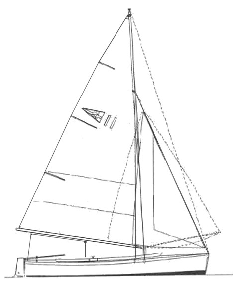 Wivenhoe One-Design drawing on sailboatdata.com