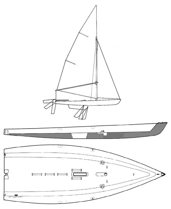 Wizz (Beneteau) drawing on sailboatdata.com
