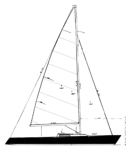 Wylie Wabbit drawing on sailboatdata.com