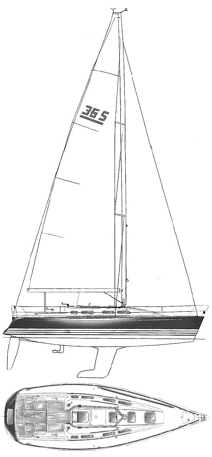 X-362 Sport drawing on sailboatdata.com