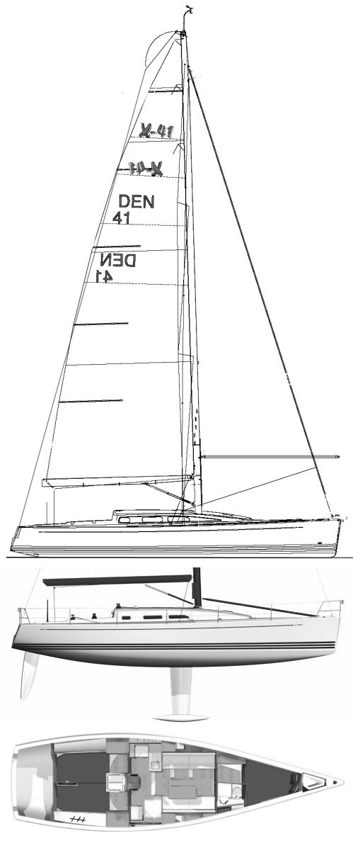 X-41 drawing on sailboatdata.com