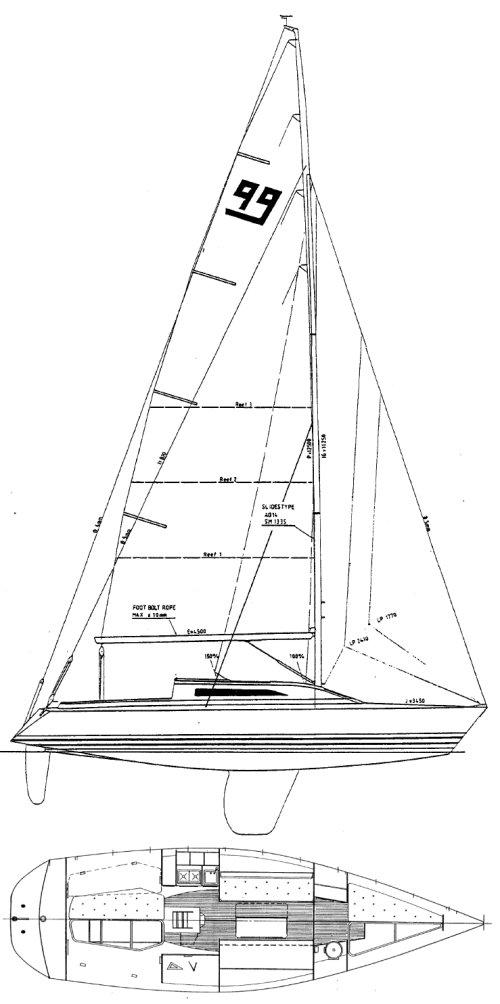 X-99 drawing