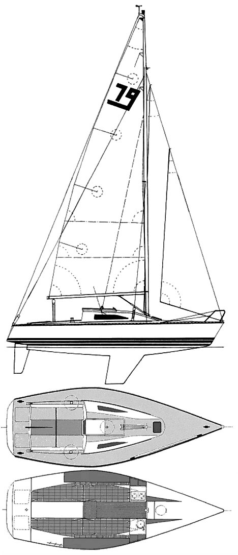 X-79 drawing on sailboatdata.com