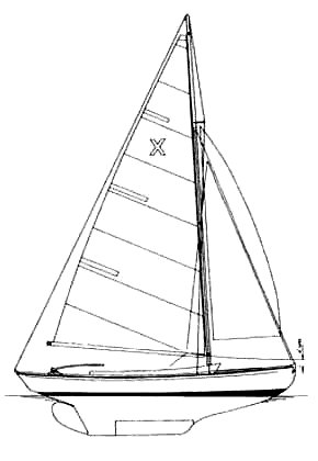 X One-Design drawing on sailboatdata.com