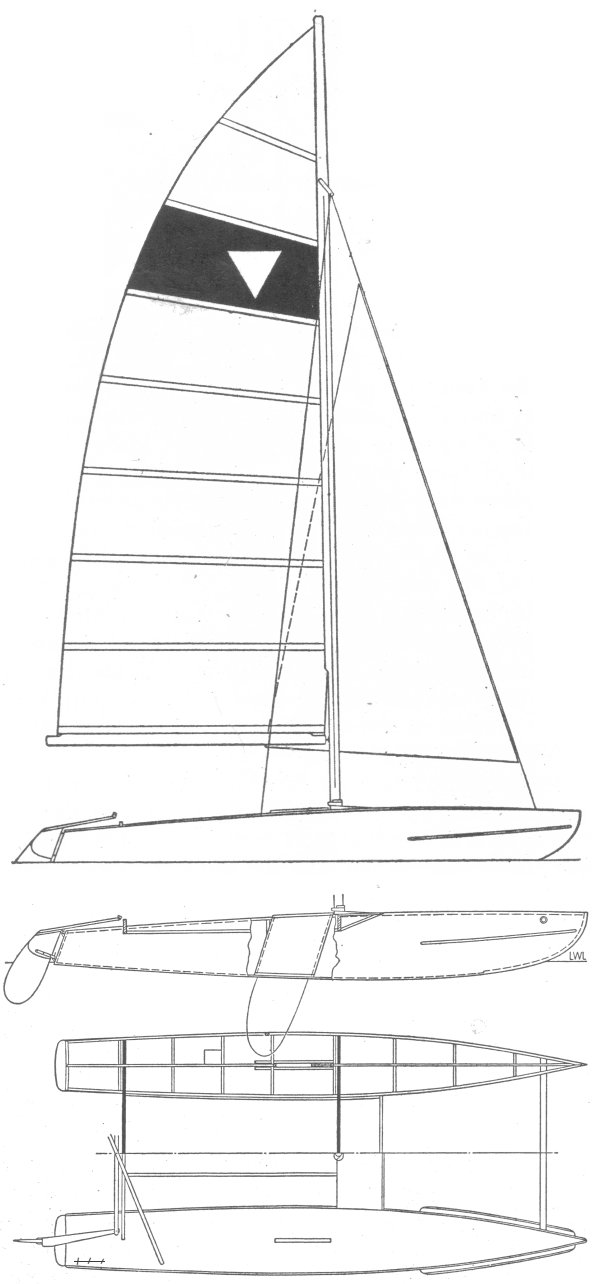YACHTING WORLD CATAMARAN drawing