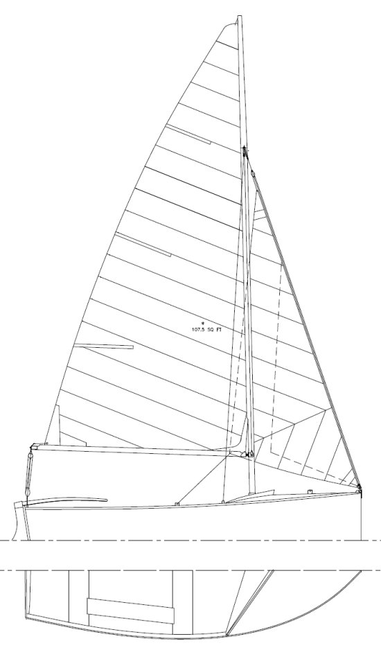 Yachting World Dayboat drawing on sailboatdata.com