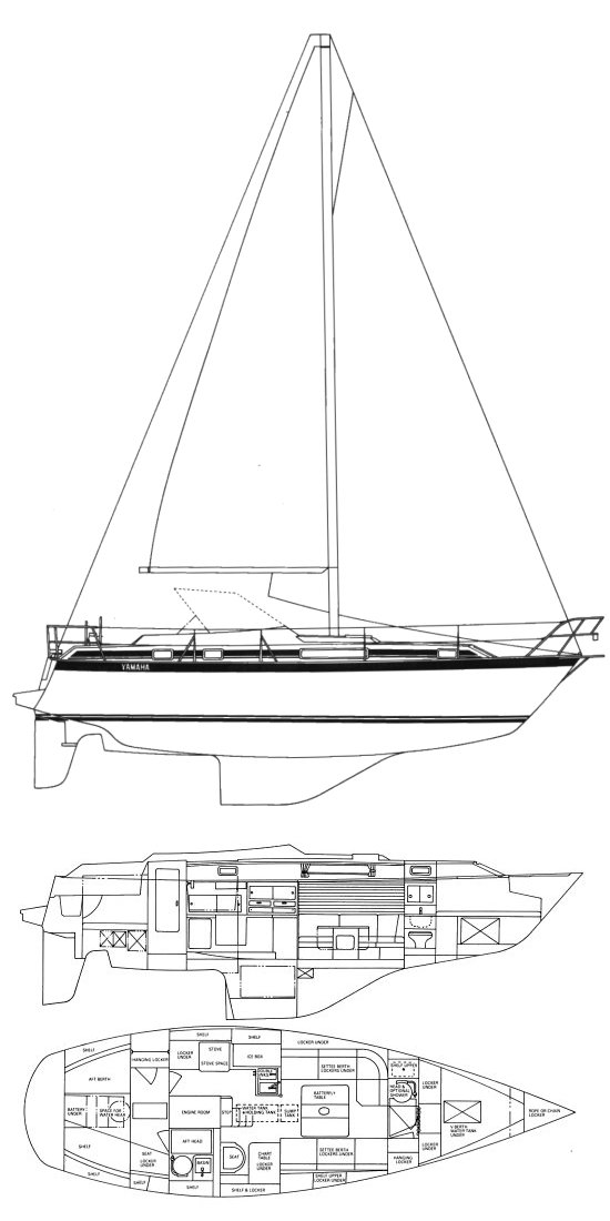 YAMAHA 35CS drawing