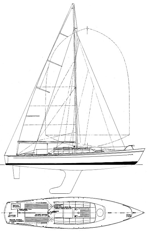 Royal Cape One-Design drawing on sailboatdata.com