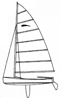 Zephyr Dinghy drawing on sailboatdata.com