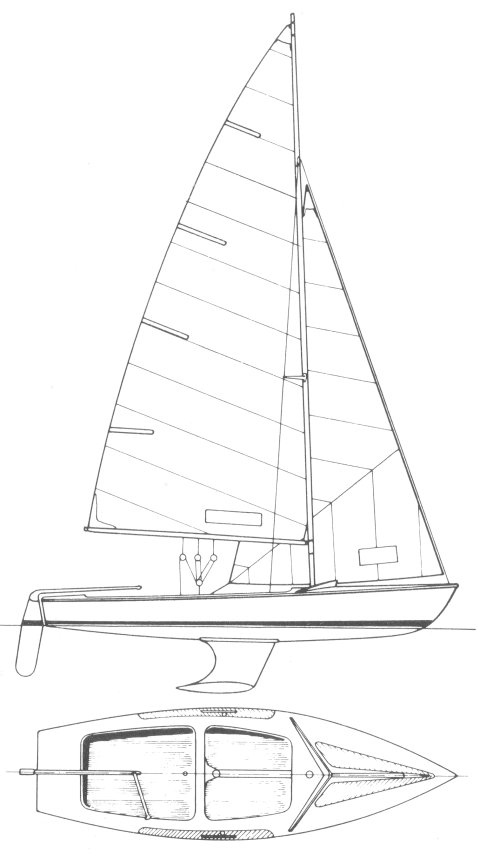 Zugvogel (Keel) drawing on sailboatdata.com