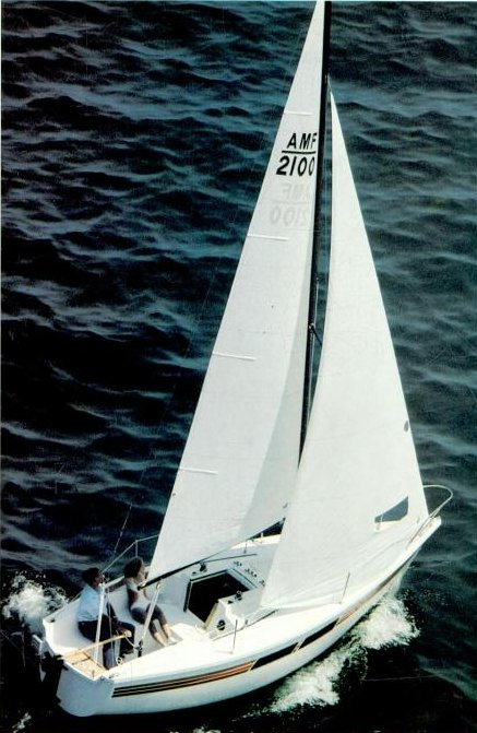 SailboatData  AMF 2100 Sailboat