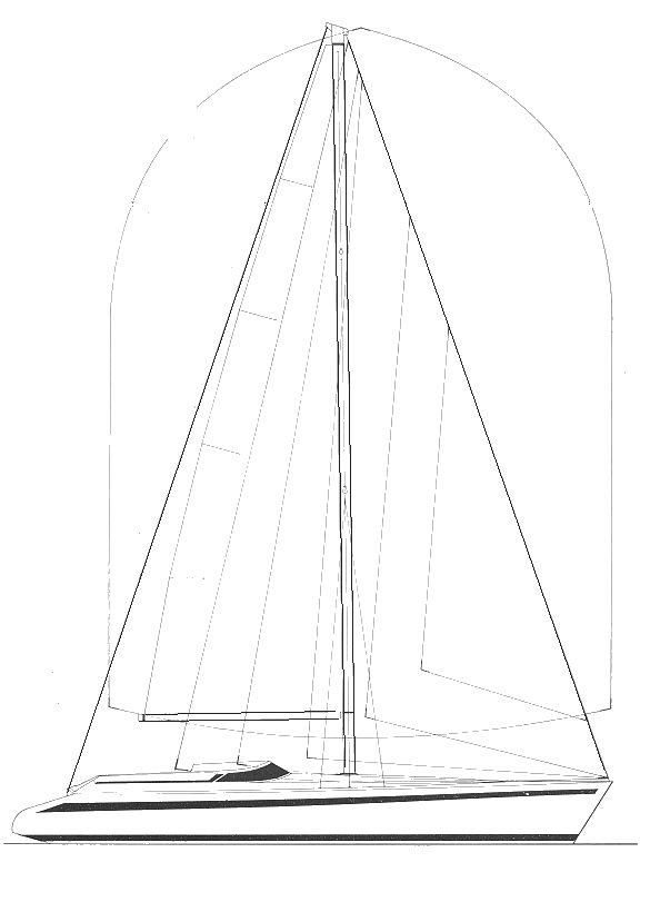 Comet 13 sailplan on sailboatdata.com