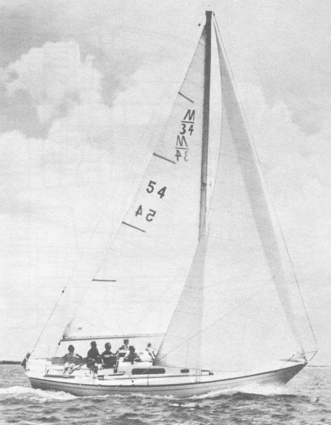 Morgan 34 photo on sailboatdata.com