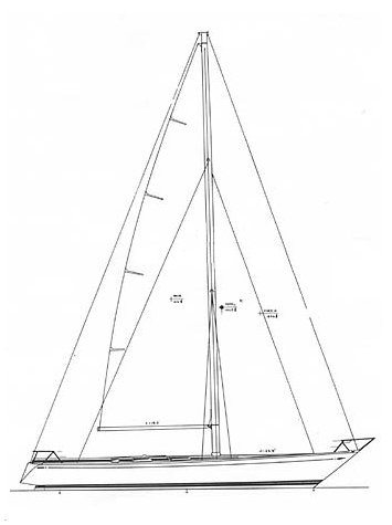 Swan 57 S&S Sloop sailplan on sailboatdata.com