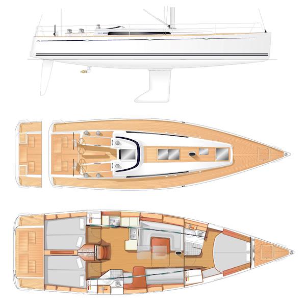 SailboatData.com - ARCONA 435 Sailboat