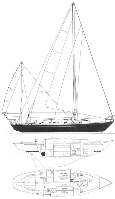 ALBERG 37 drawing